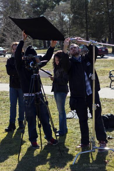 Raeshelle Cooke on the set of her film Mt. Washington