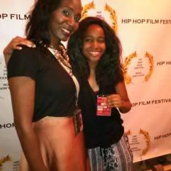 With Dominique LaFleur at the Hip-Hop film festival