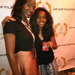 With Dominique LaFleur at the Hip-Hop film festival