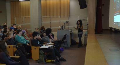 Speaking at Bridgewater State University