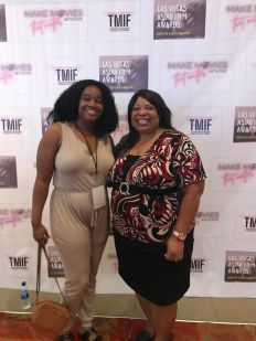 Raeshelle Cooke with Tamia Dow at the AOF International Film Festival